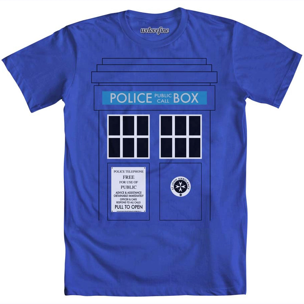 Dr. Who and the Daleks Tardis T-Shirt