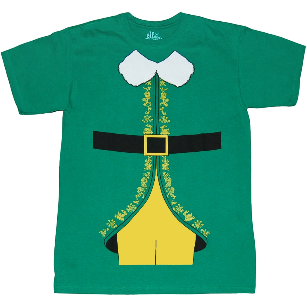 Elf Shirts Elf Buddy Costume T Shirt by Animation Shops