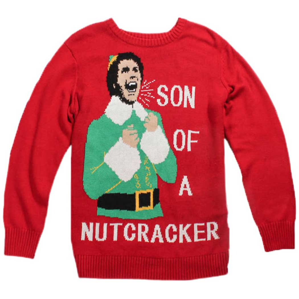 elf son of nutcracker ugly christmas sweater animationshopscom