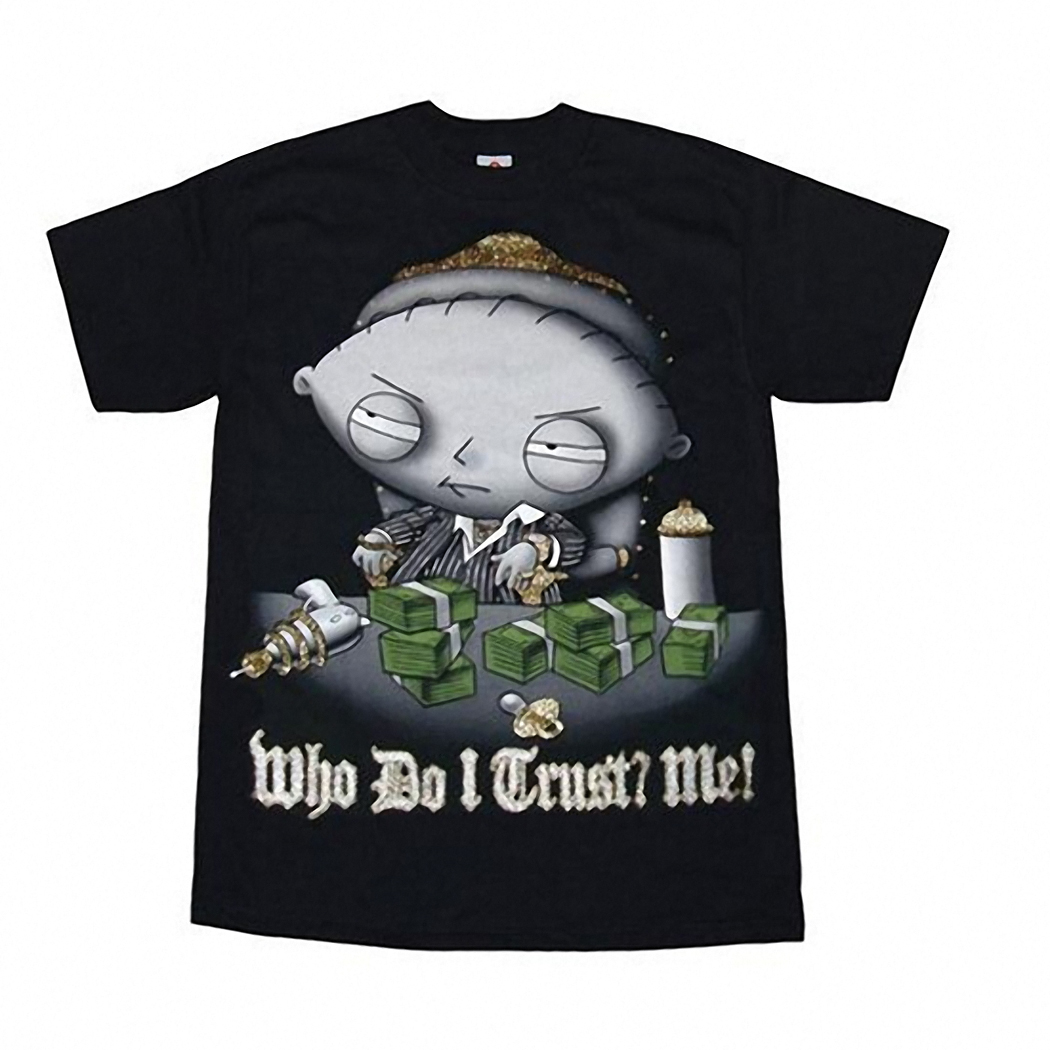 Family Guy Stewie Who Do I Trust Adult T-Shirt