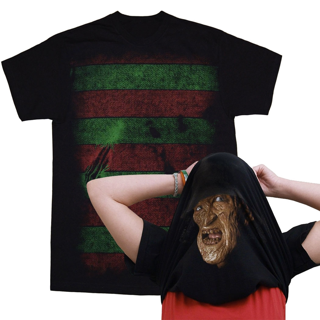 Nightmare on Elm Street I Am Freddy Krueger Pull Over Mask T-Shirt