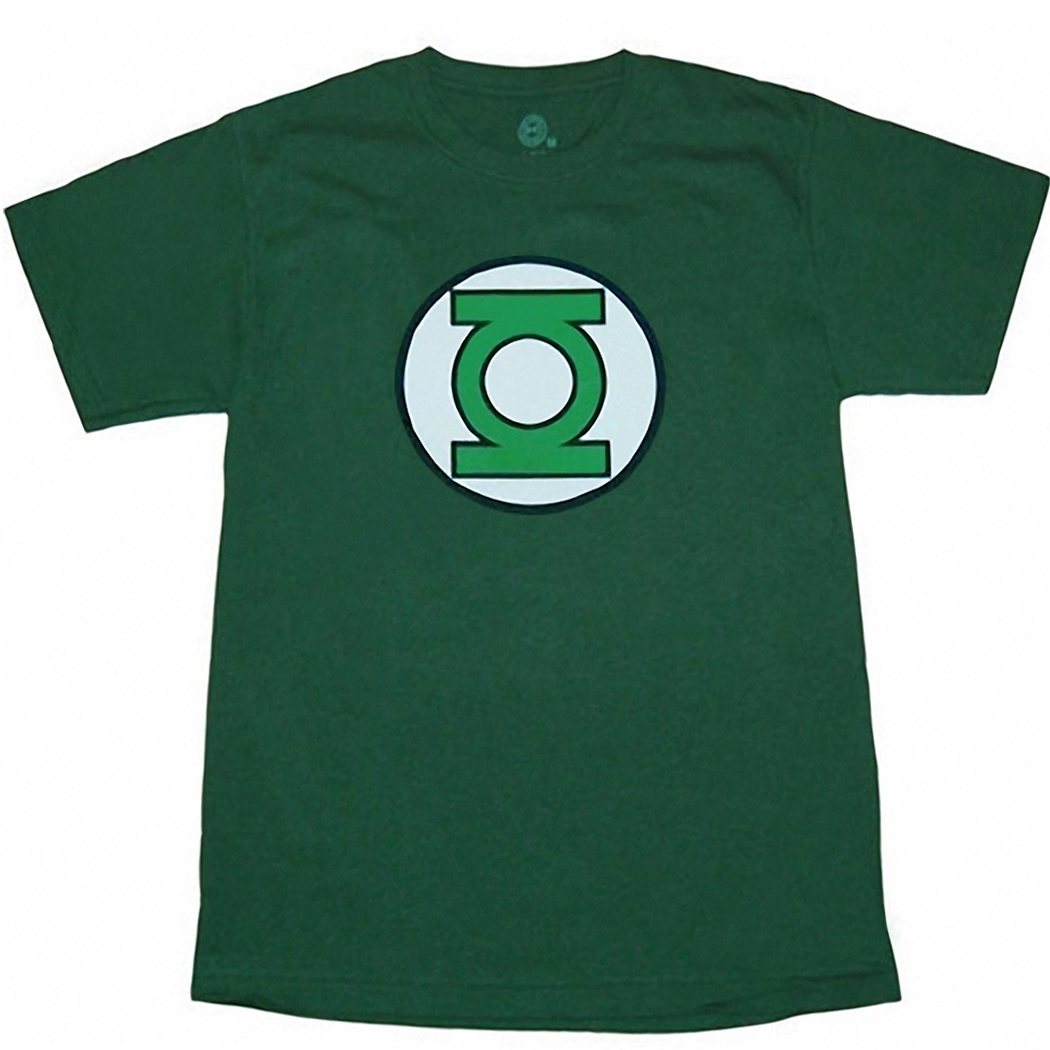 Green Lantern Glow Logo Adult T-Shirt