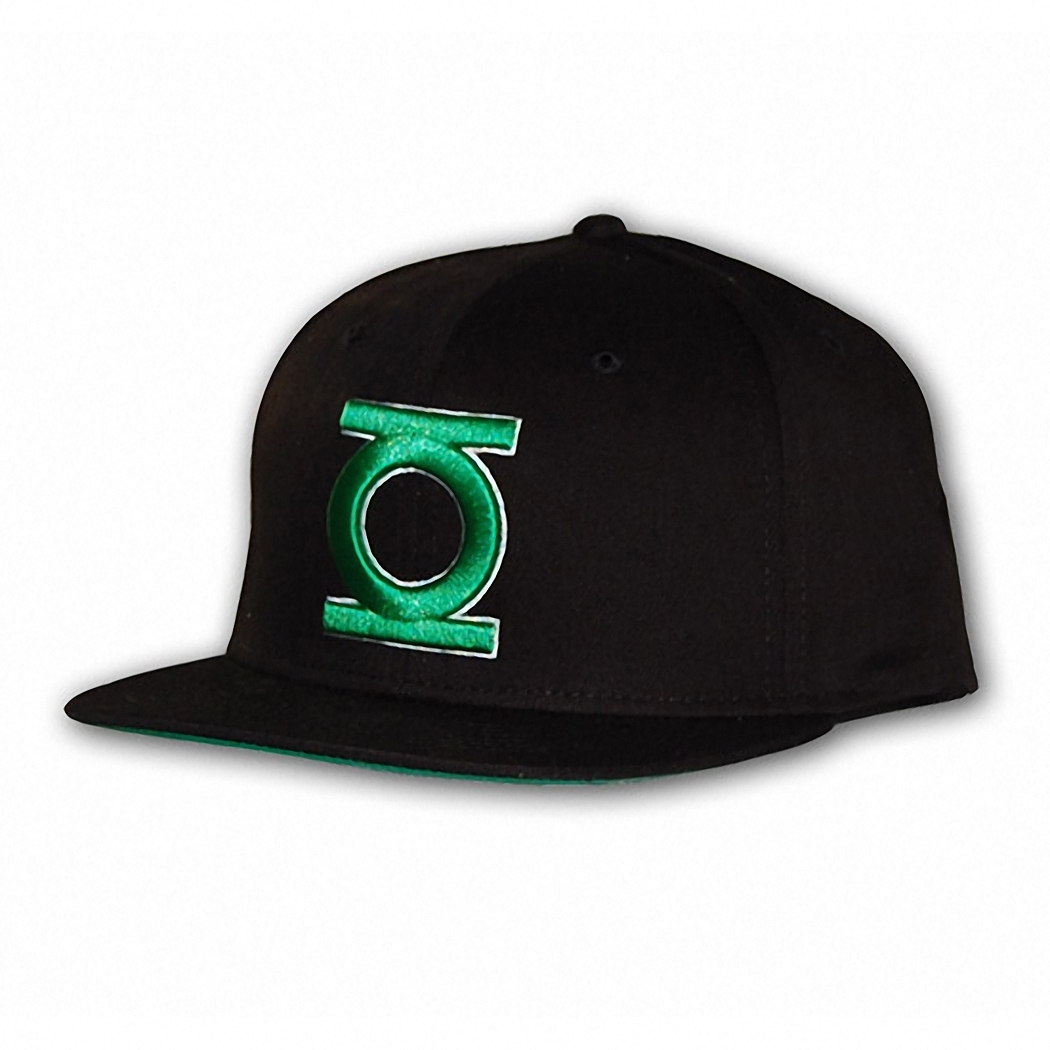 Green Lantern 3D Embroidered Logo Snapback Hat