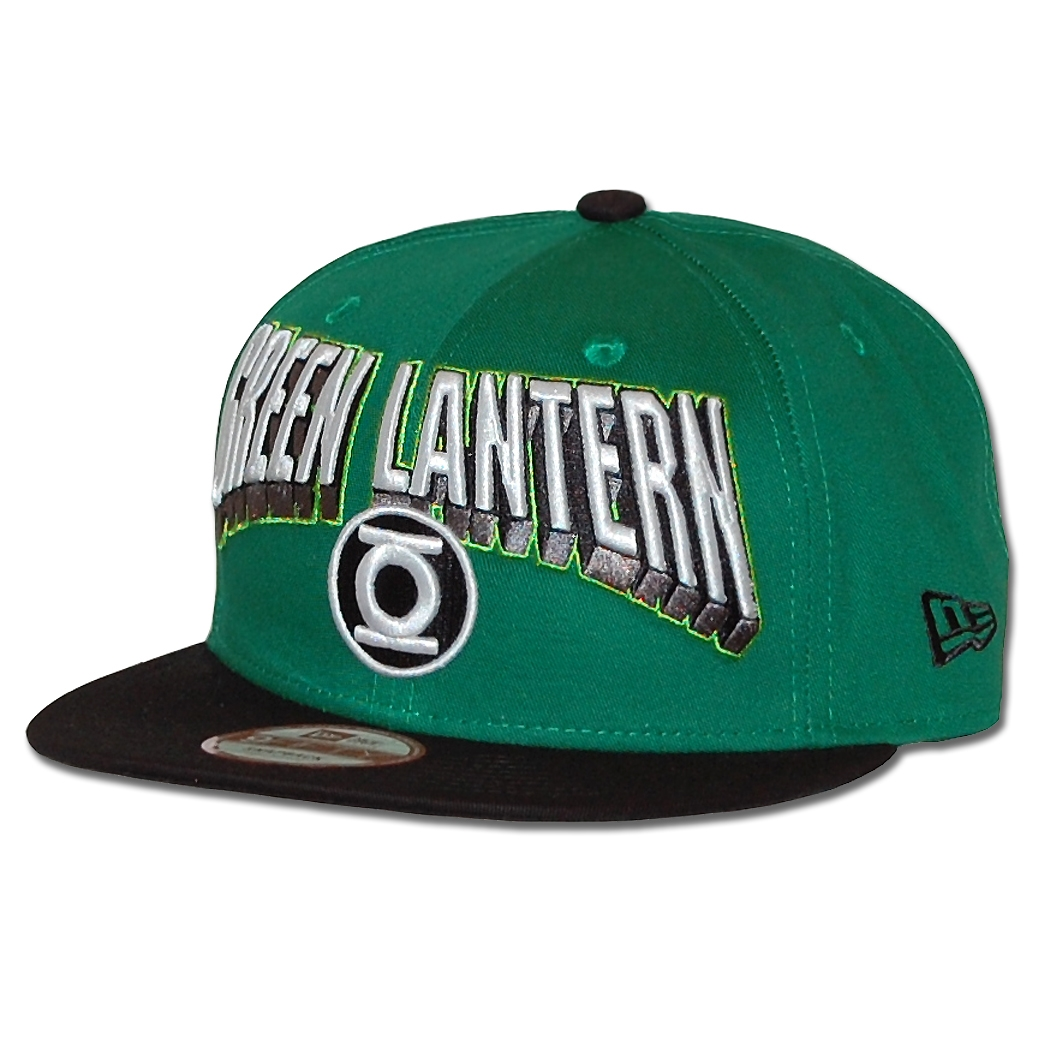 New Era Hero Block Green Lantern Logo 9Fifty Snapback Hat