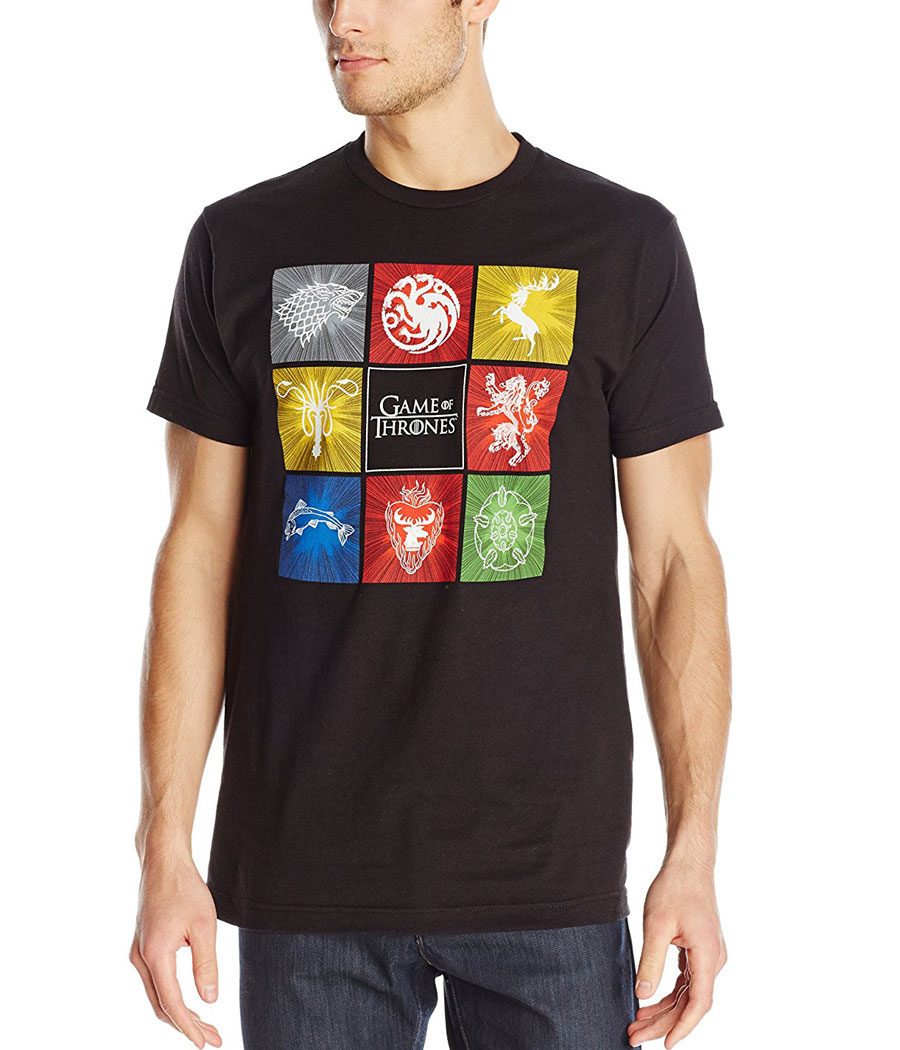 Game of Thrones House Sigil Squares T-Shirt
