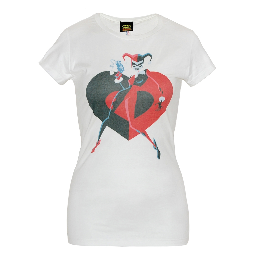 Harley Quinn Heart Junuior Ladies T-Shirt