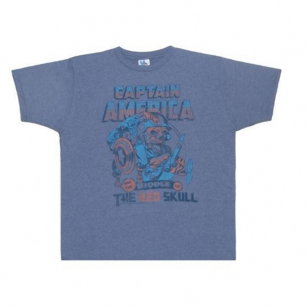 Junk Food: Captain America Red Skull Mens Tee