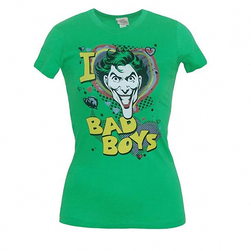 I Love Bad Boys Junior Ladies T-Shirt