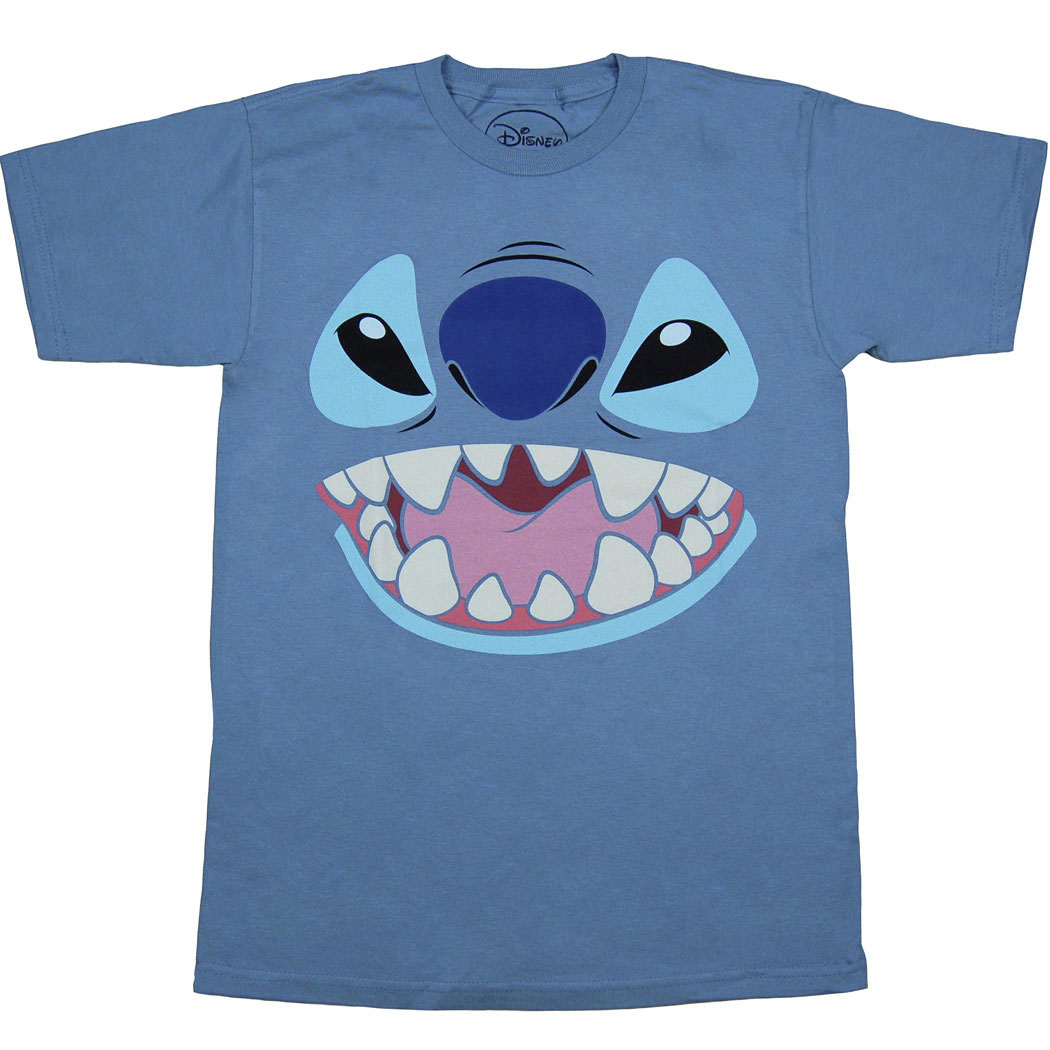 Lilo and Stitch: Stitch Face Adult T-Shirt