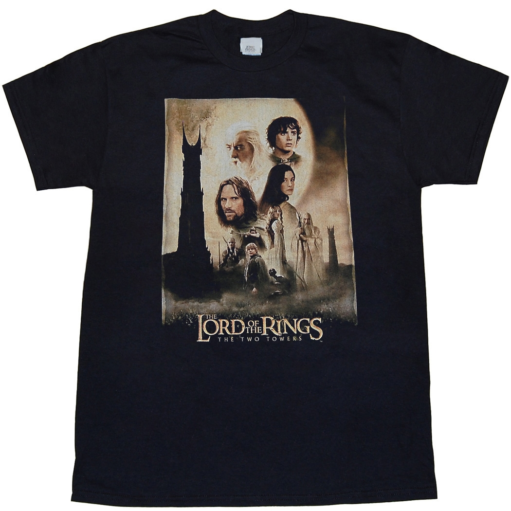 Lord Of The Rings: The Two Towers Movie Poster T-Shirt