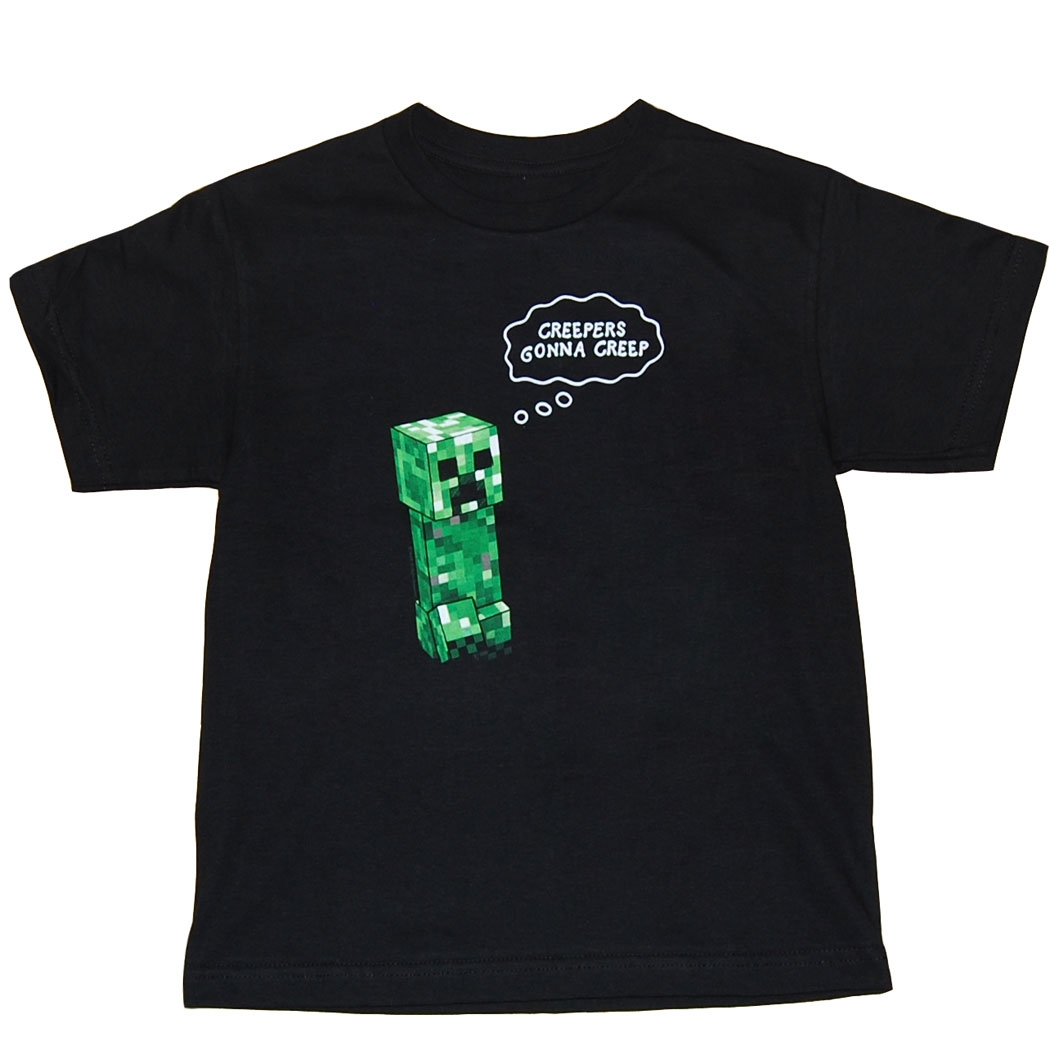 Minecraft Creepers Gonna Creep Youth Kids T-Shirt