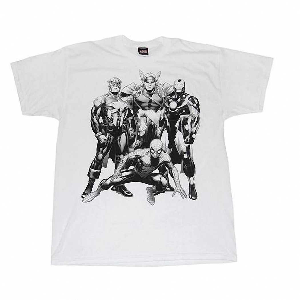 Marvel Comics Heroes Blackline T-Shirt