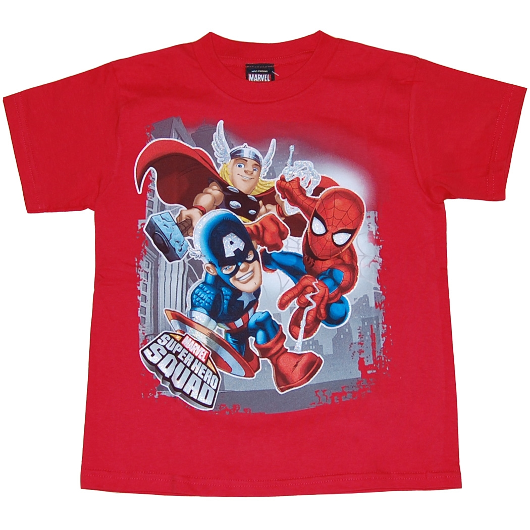 Marvel Comics Hero Squad Big 3 Juvy T-Shirt