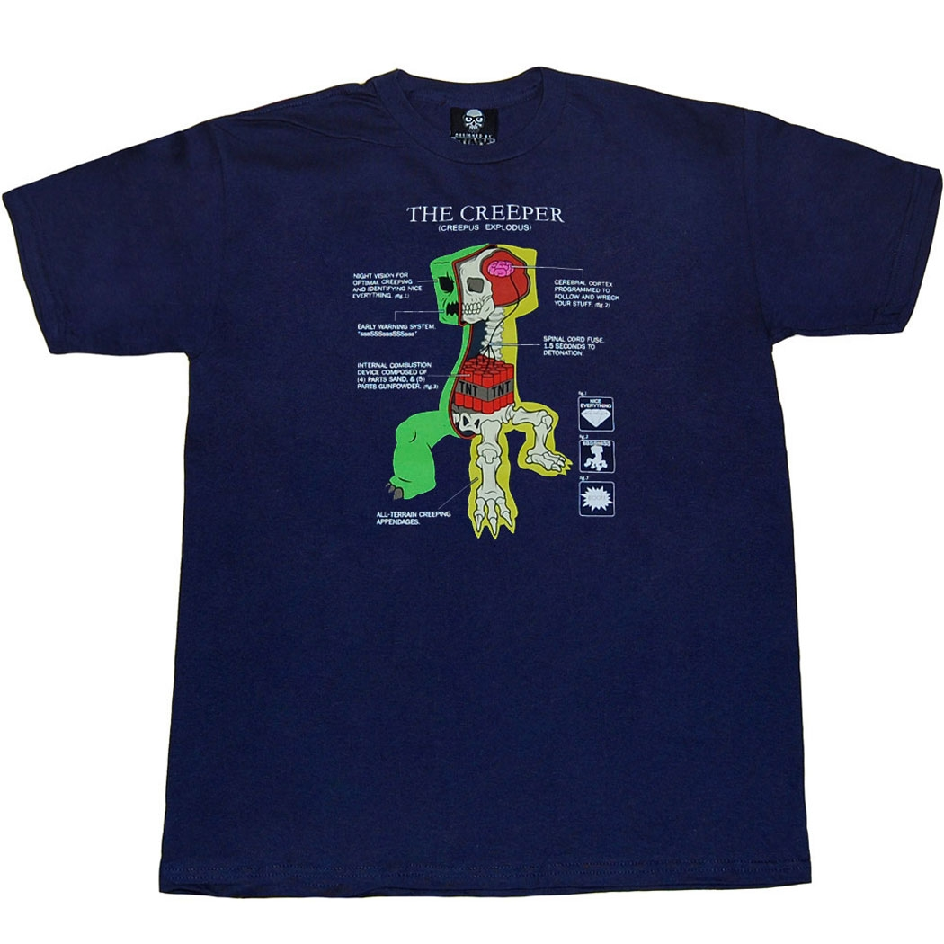 Minecraft Shirts Minecraft Creeper Anatomy Youth Kids T Shirtby