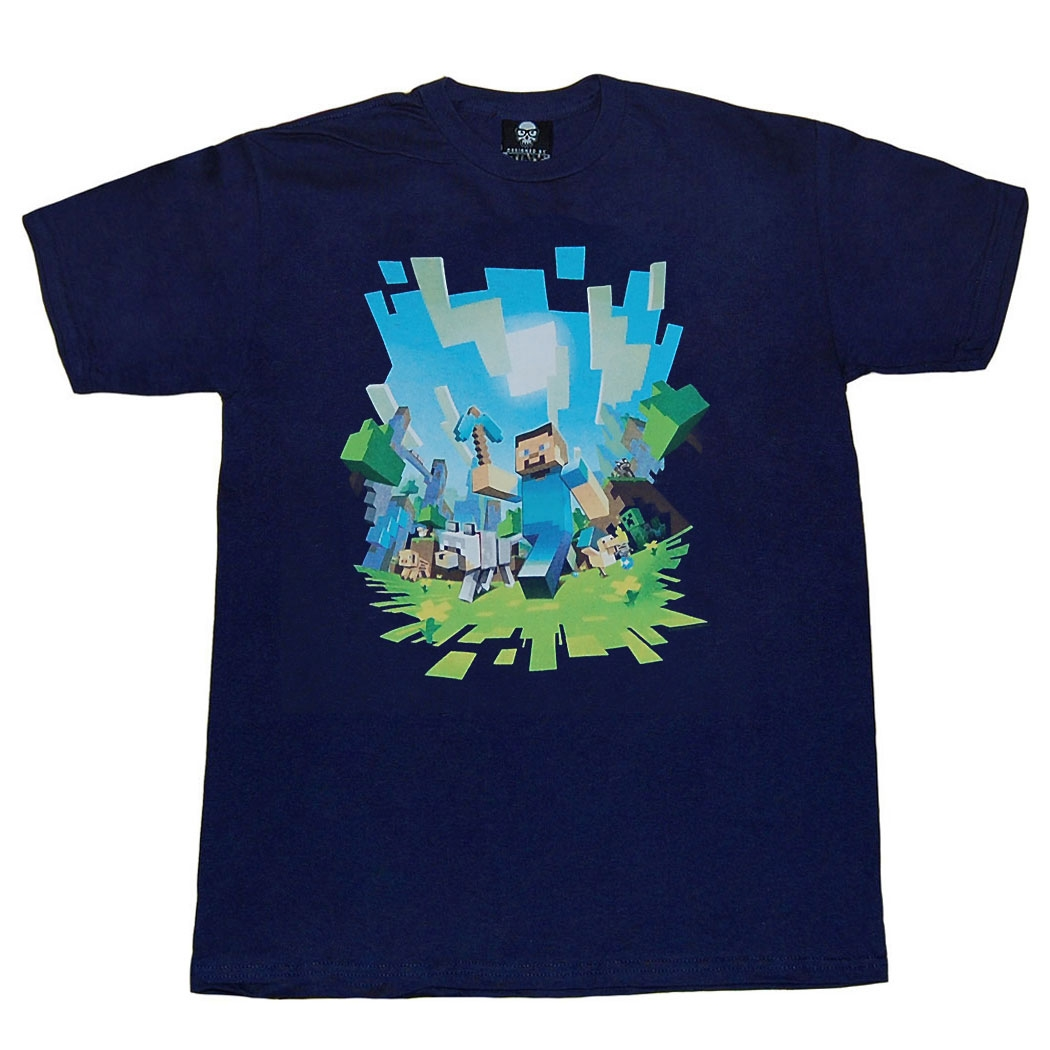 Minecraft Adventure Steve Youth T-Shirt