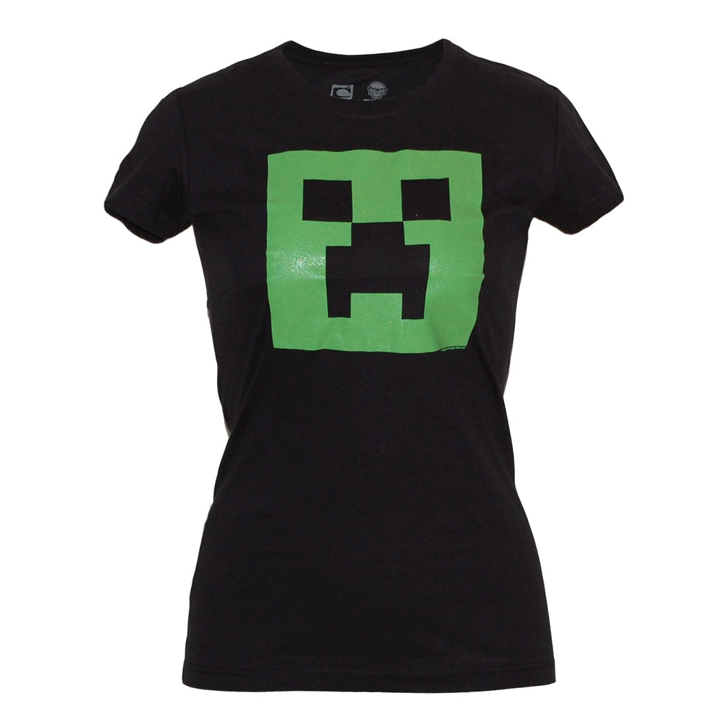 Minecraft Creeper Glow In The Dark Junior Shirt