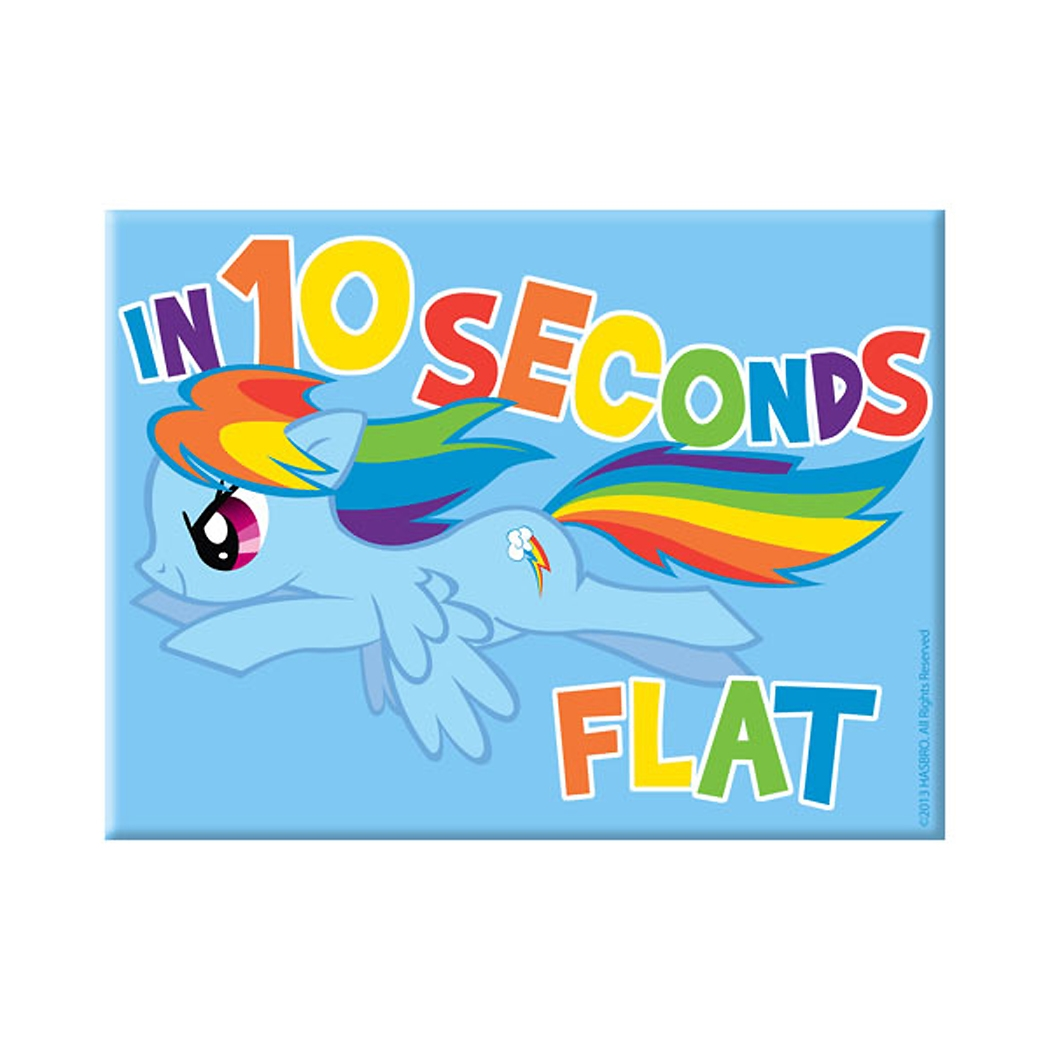 My Little Pony Rainbow Dash 10 Seconds Magnet