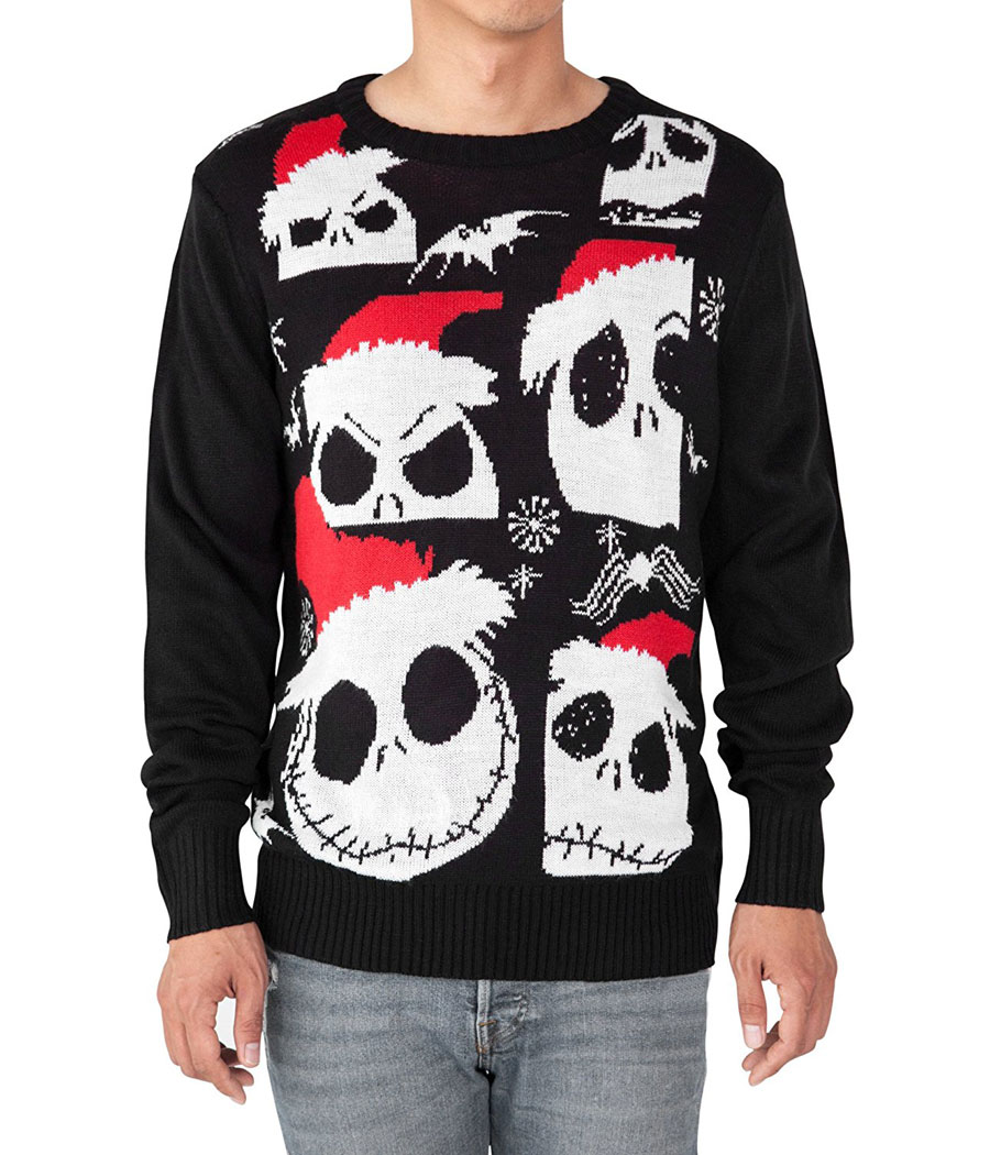 Nightnare Before Christmas Jack Ugly Christmas Sweater ...