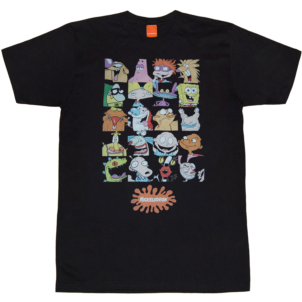Nickelodeon Mens Nick Rewind Squares Mens T-Shirt White Small