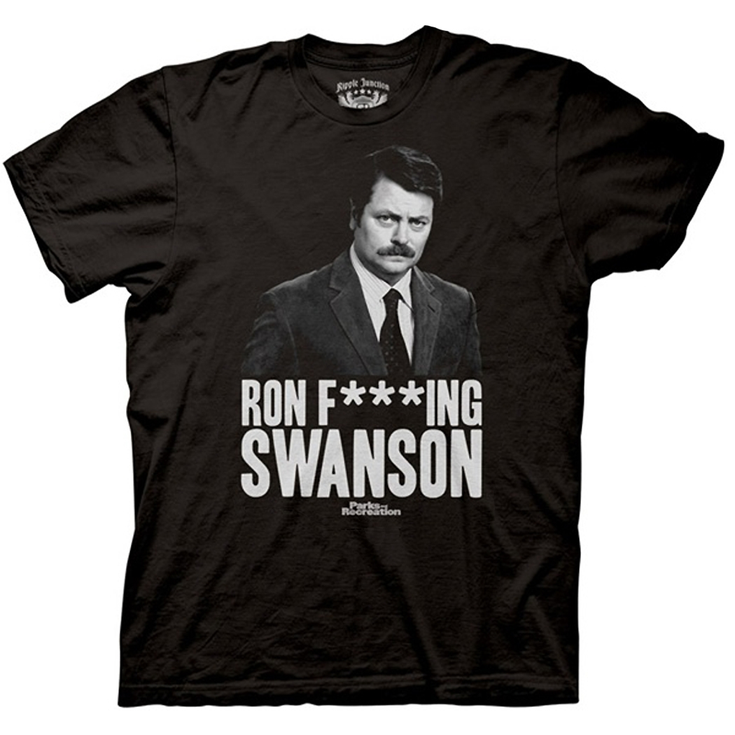 Parks and Recreation Ron F***king Swanson T-Shirt