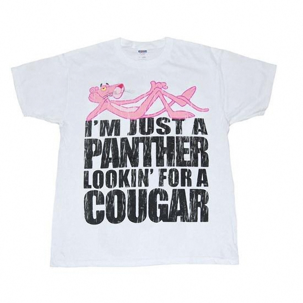 Pink Panther Looking For A Cougar T-Shirt