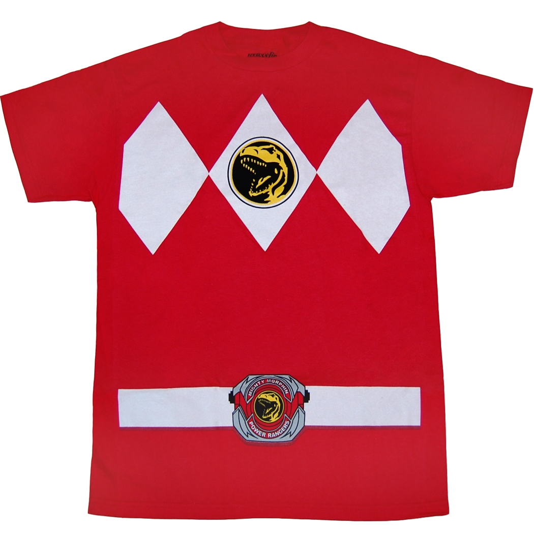 Mighty Morphin Power Rangers Shirts Power Rangers Red