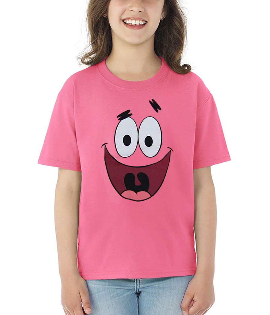 Patrick Star Face Youth Kids T-Shirt