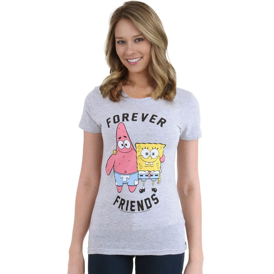Spongebob Forever Friends Junior Womens T-Shirt
