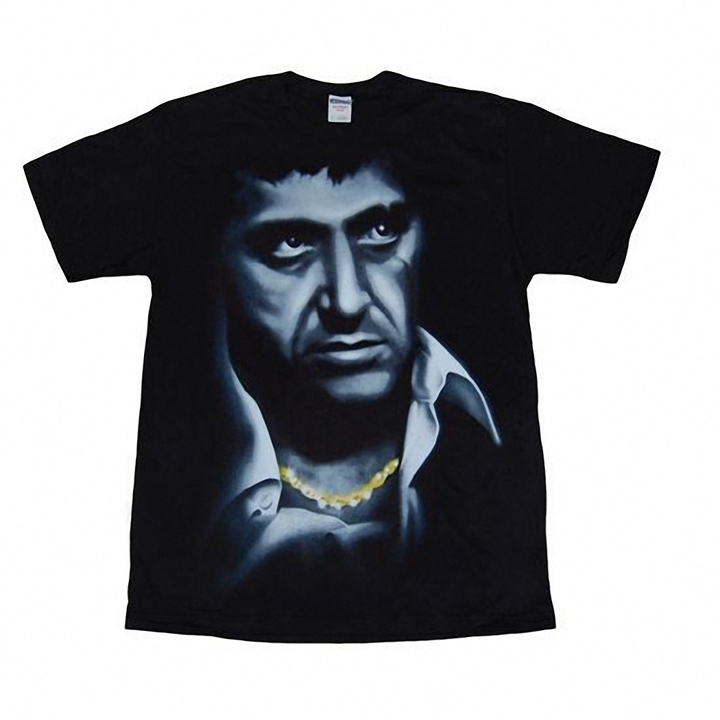 Scarface Big Face Airbrush Adult T-Shirt