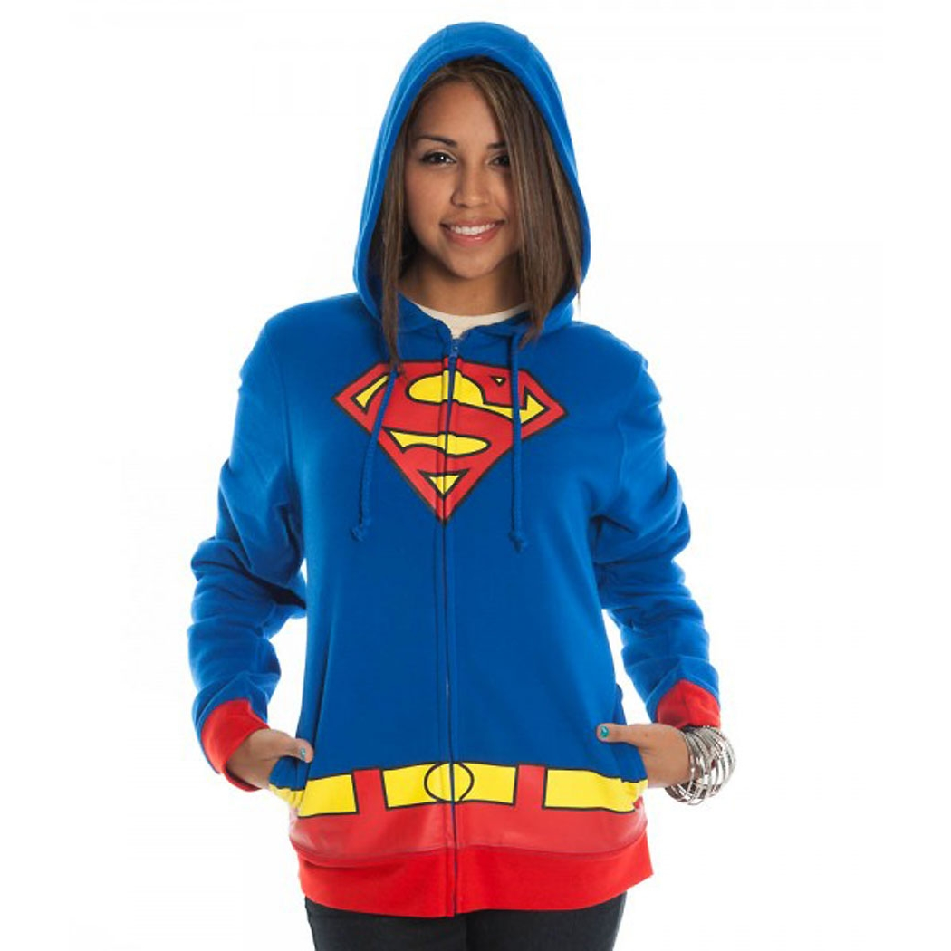 Supergirl Costume Junior Ladies Hoodie