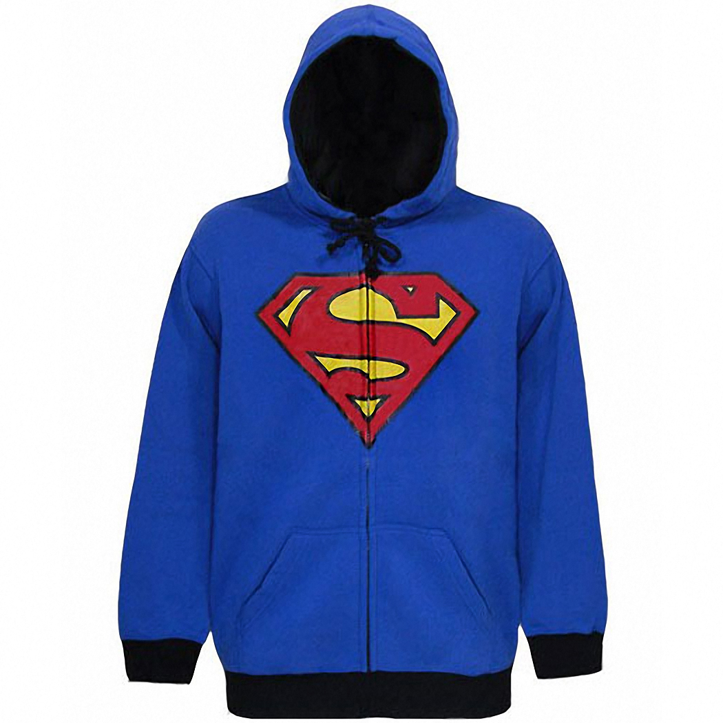 Superman Shield Zip Up Hoodie