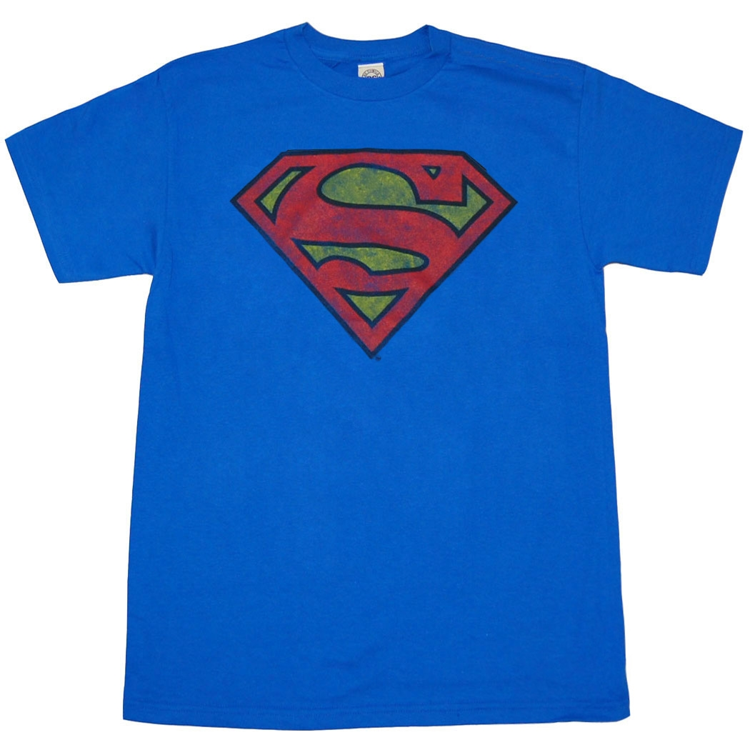 Superman Distressed Original Logo T-Shirt