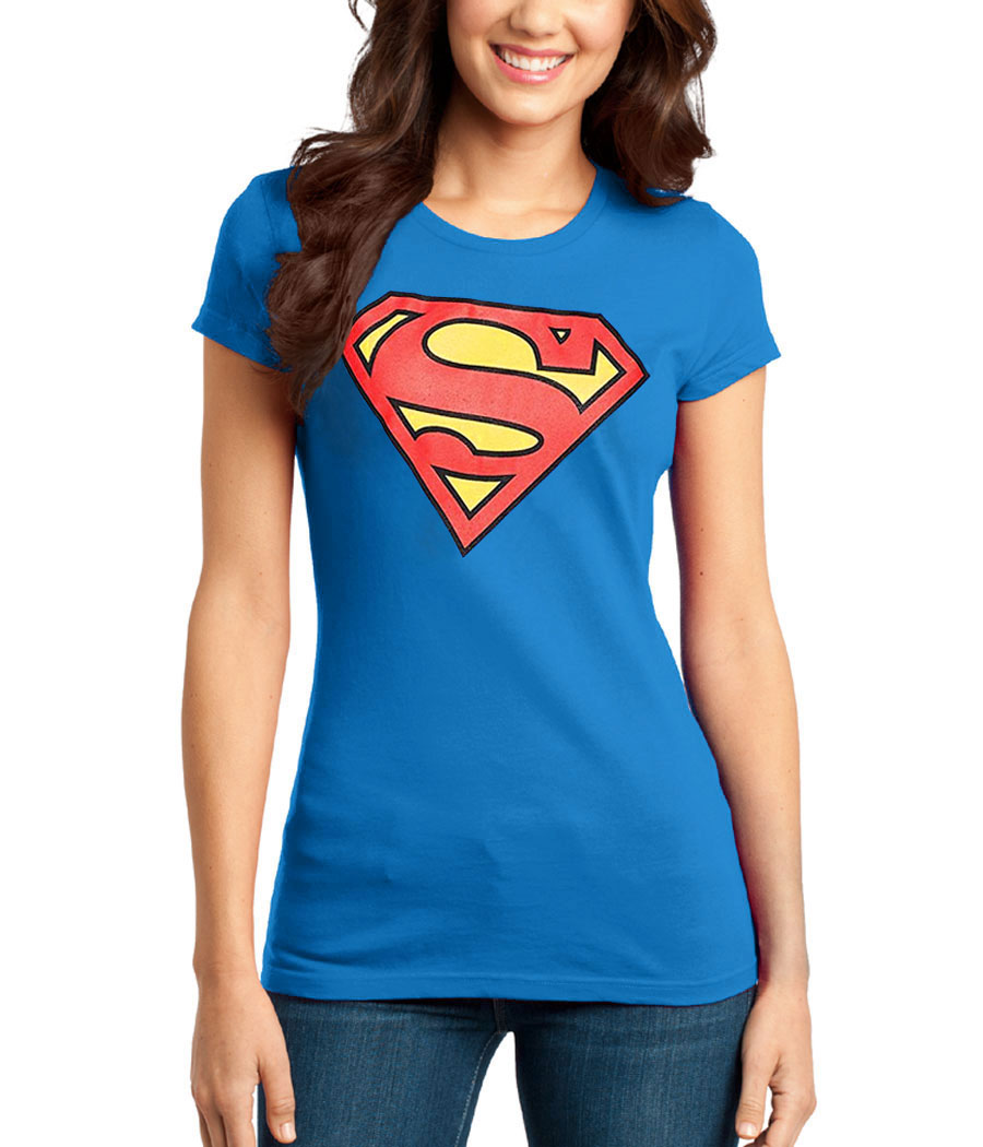 Superman Symbol Junior Women's T-Shirt | AnimationShops.com