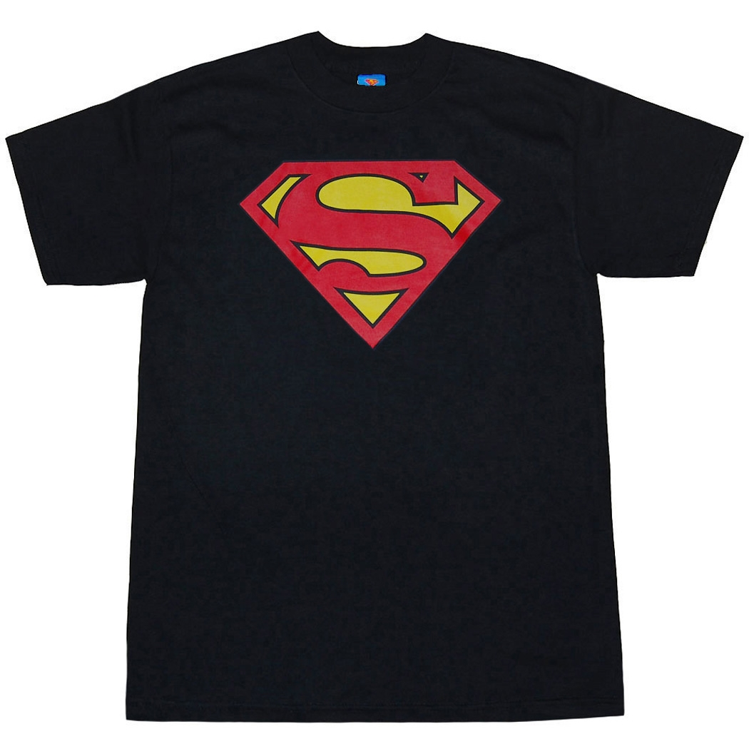 Dc Comics Shirts Superman Symbol Black T Shirt By Animation Shops