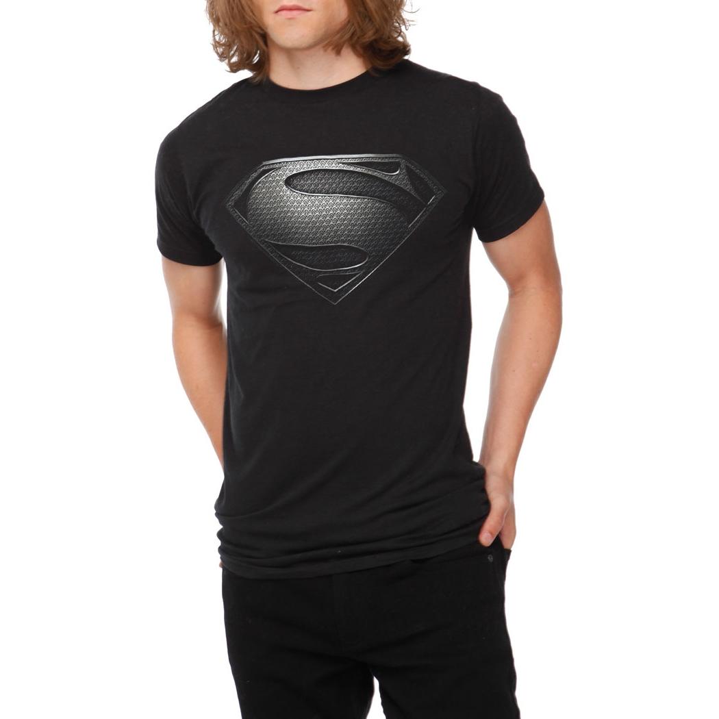 superman shirts superman man of steel black symbol t shirt by animation shops. Black Bedroom Furniture Sets. Home Design Ideas