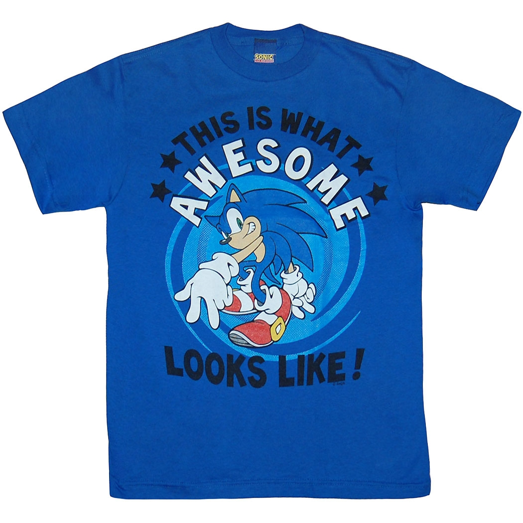 Sonic The Hedgehog Shirts - Sonic Awesome Kid Youth T
