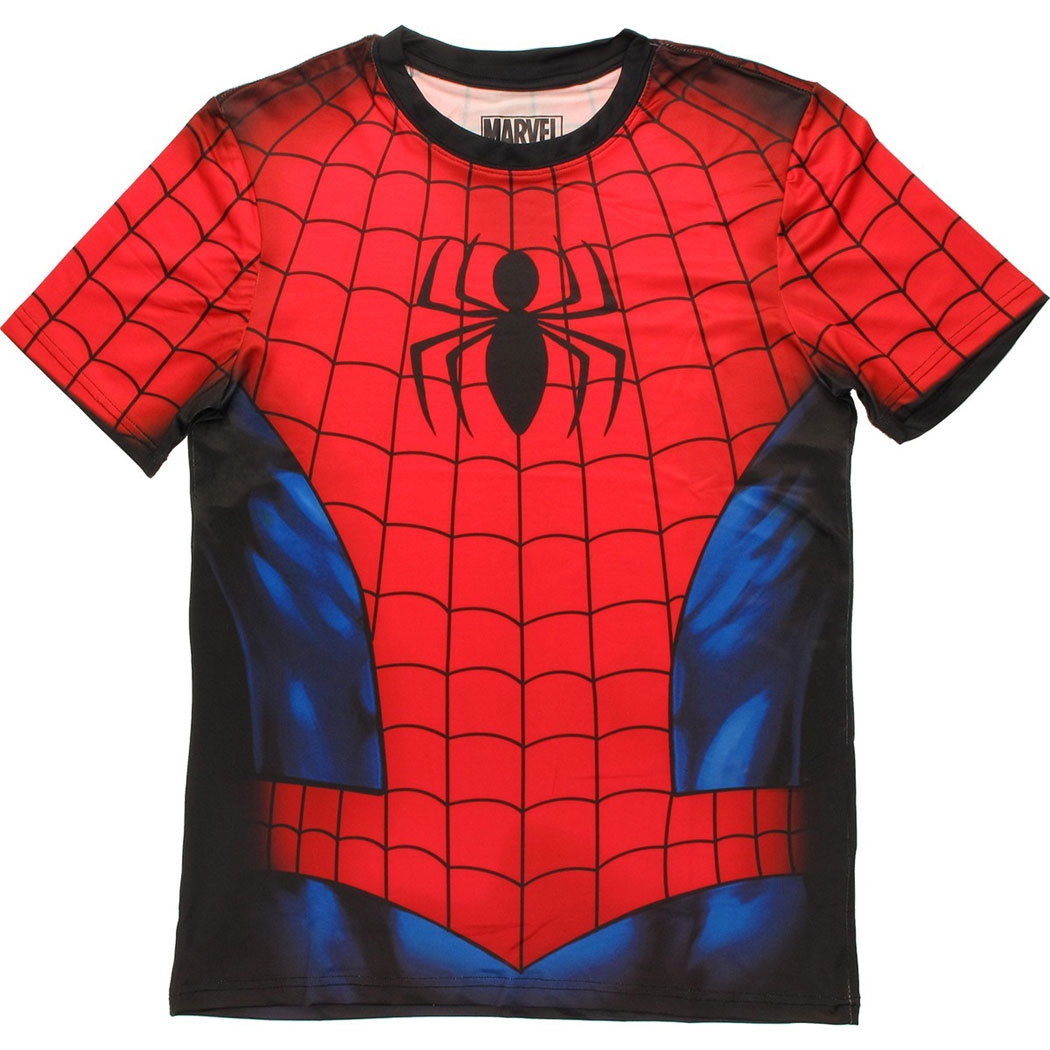 Spider-man Sublimated Athletic Costume T-Shirt