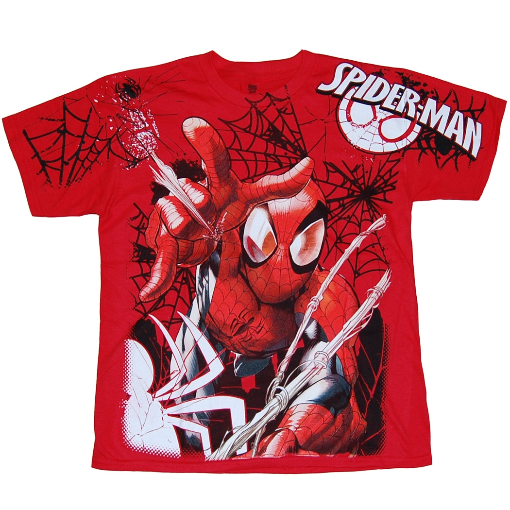 Spider-man Jumbo Print Youth T-Shirt