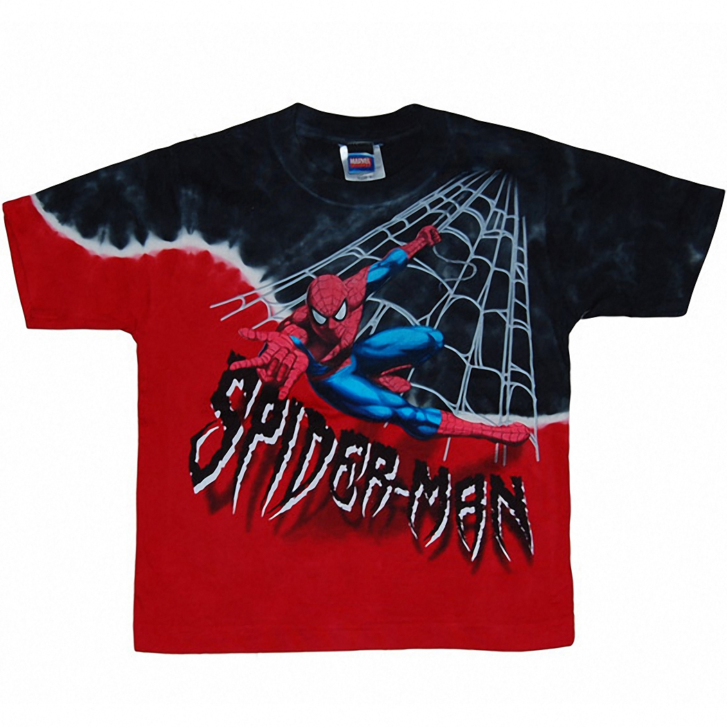 Spider-man Diagonal Tye Dye Youth Kids T-Shirt