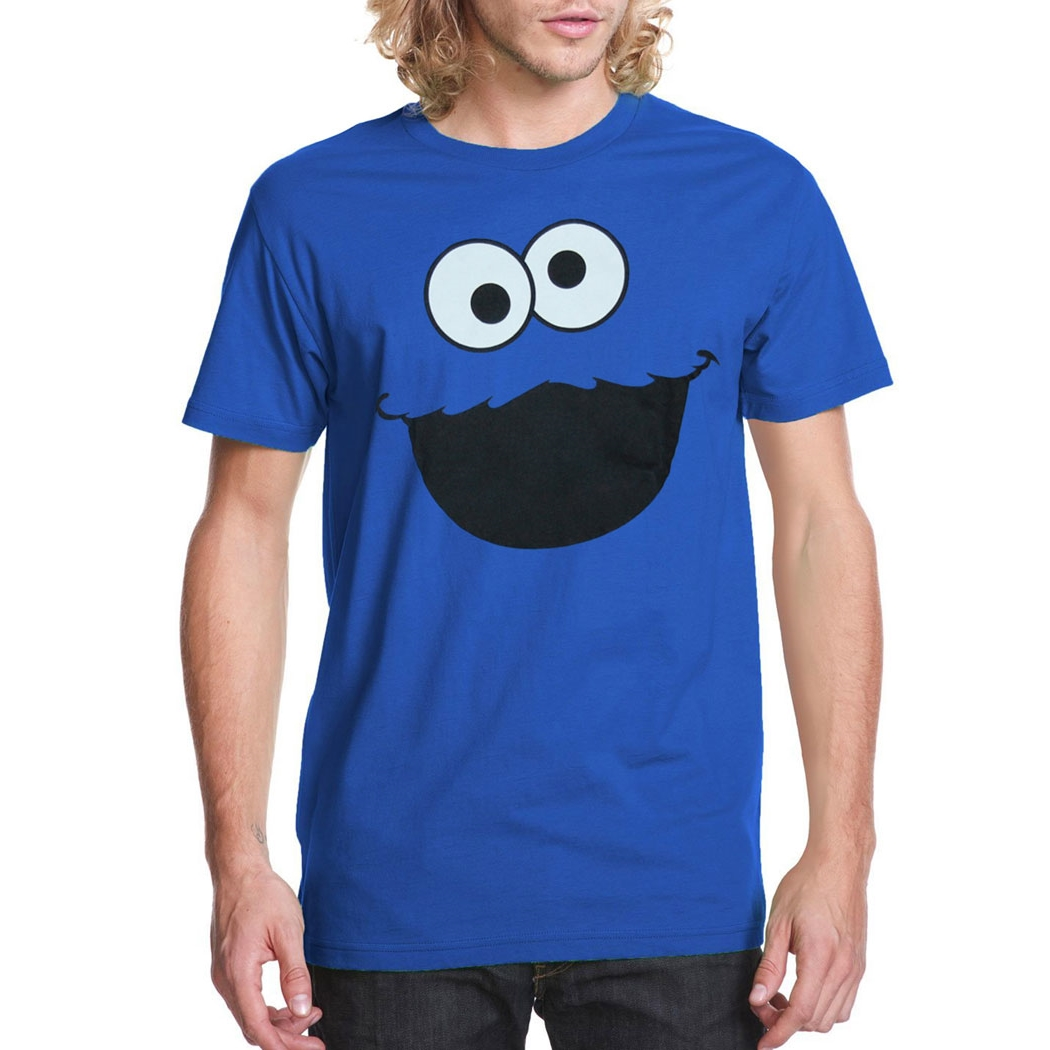 Sesame Street Cookie Monster Face Adult T-Shirt