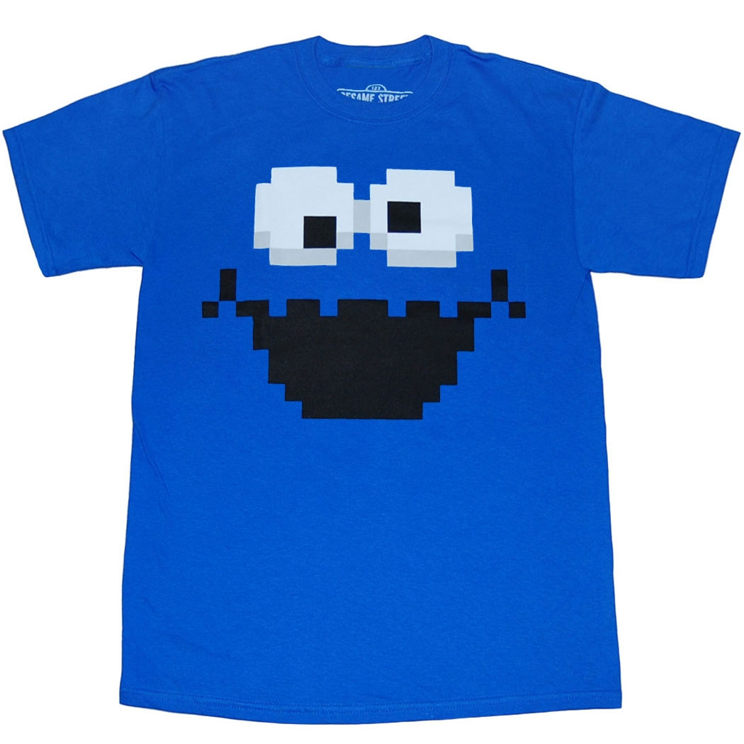 Sesame Street Cookie Monster Pixel T-Shirt