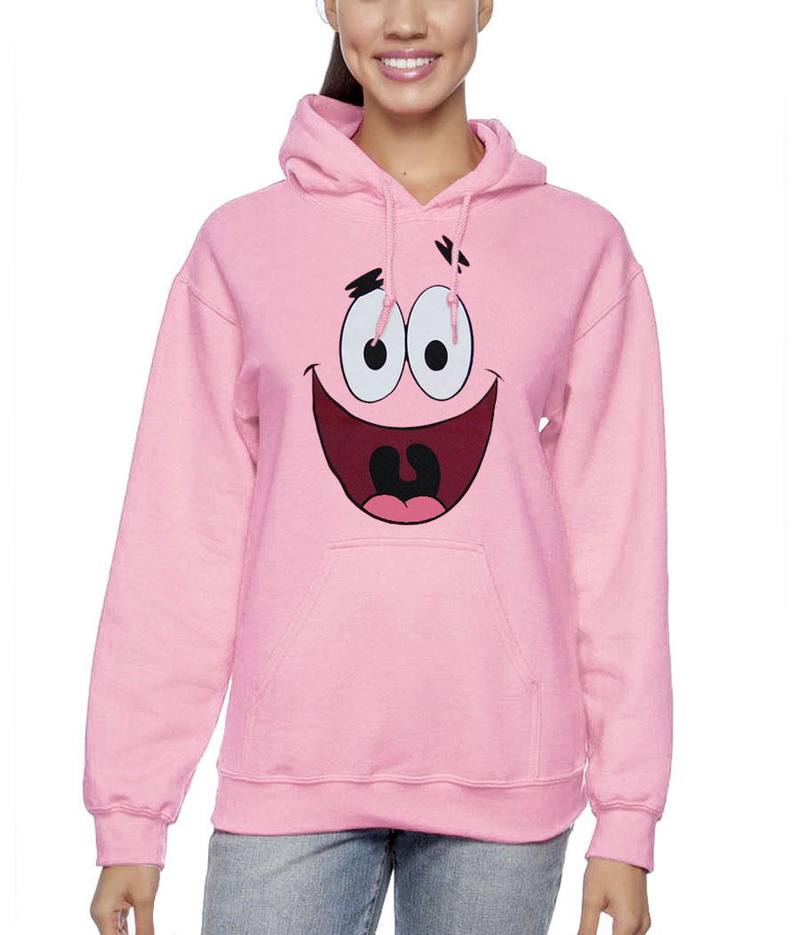 Patrick Star Face Adult Hoodie