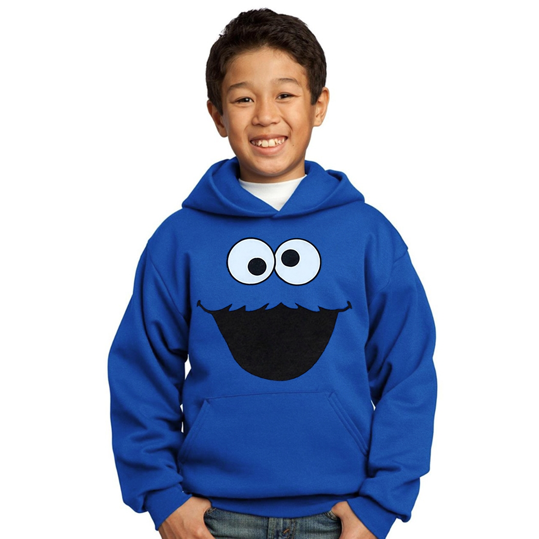 Cookie Monster Face Youth Hoodie