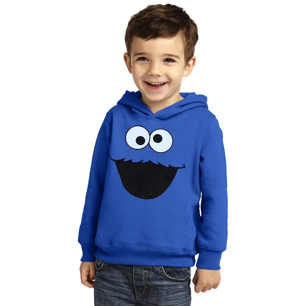 d4ed43535 Cookie Monster Face Toddler Hoodie | AnimationShops.com