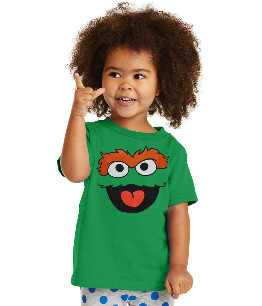 Sesame Street Oscar The Grouch Face Infant T-Shirt
