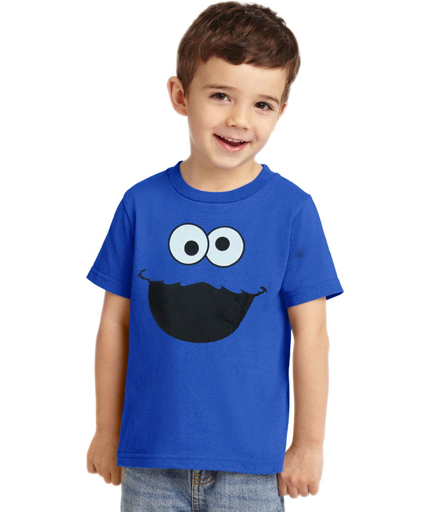 Cookie Monster Face Toddler T-Shirt