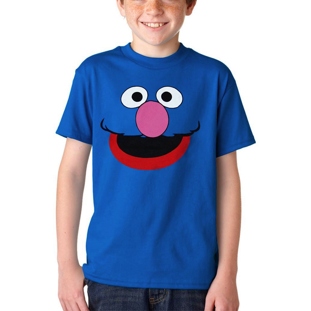Sesame Street Grover Face Youth T-Shirt