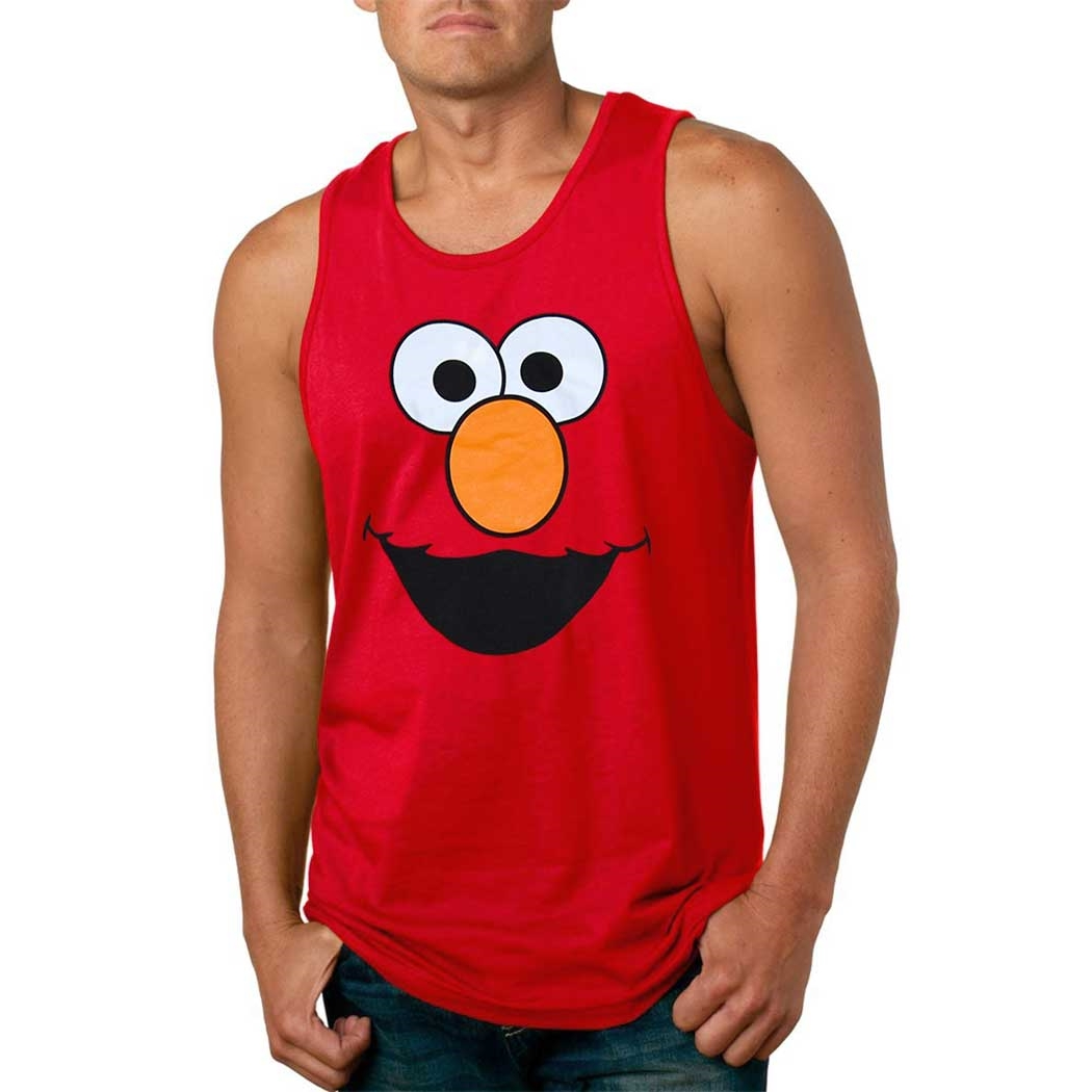 Elmo Face Adult Tank Top