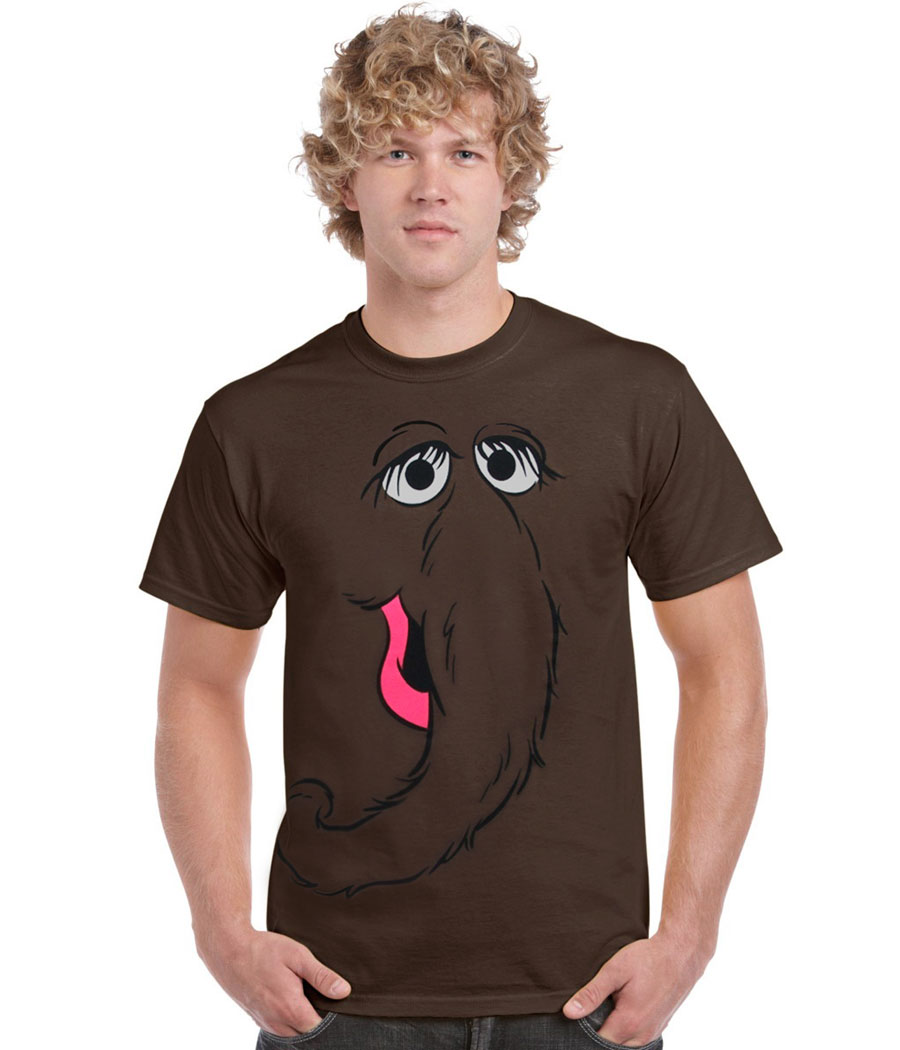 Sesame Street Snuffy Face Adult T-Shirt