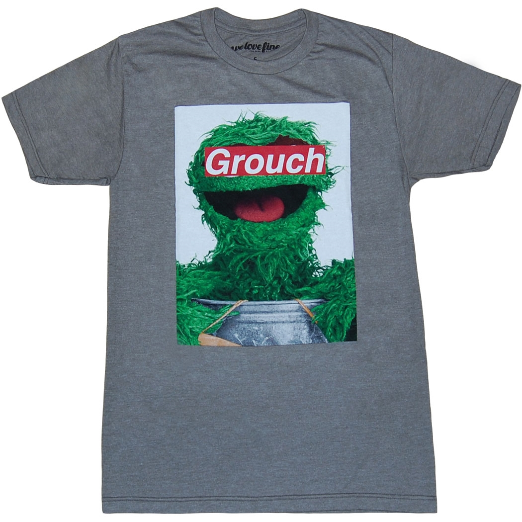 Sesame Street Oscar the Grouch Label T-Shirt